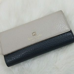 Kate Spade wallet black and gray